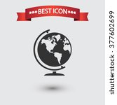 globe icon vector | Shutterstock .eps vector #377602699