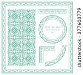 vintage frame pattern set 262... | Shutterstock .eps vector #377603779