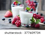 Healthy yougurt with mix of...
