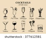 cocktails and alcoholic... | Shutterstock .eps vector #377612581