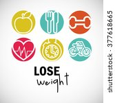 lose weight design  | Shutterstock .eps vector #377618665