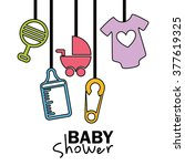 baby shower design  | Shutterstock .eps vector #377619325