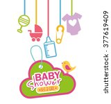 baby shower design  | Shutterstock .eps vector #377619409