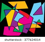 a colorful abstract cubism... | Shutterstock .eps vector #377624014