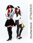 Two Young Women In Pirate...