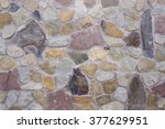 stone coating of a wall | Shutterstock . vector #377629951