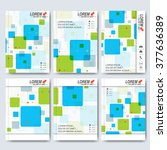 modern vector templates for... | Shutterstock .eps vector #377636389
