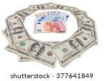 Several Euro Bills In A Circle...