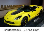 Small photo of TORONTO-FEBRUARY 12: at the 2016 Canadian International AutoShow.Corvette C7R race car shares the C7A¢A?A?s aluminum structure, which is 40% stiffer than the outgoing C6R