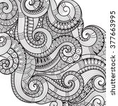 abstract  pattern for coloring... | Shutterstock . vector #377663995