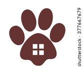 paw logo vector. | Shutterstock .eps vector #377667679