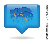 icon for weather  forecasts.... | Shutterstock .eps vector #377669809