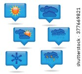 icons for weather  forecasts | Shutterstock .eps vector #377669821