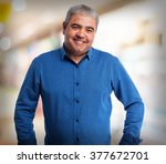 portrait of a mature handsome... | Shutterstock . vector #377672701