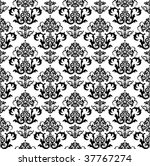 seamless black and white floral ... | Shutterstock .eps vector #37767274