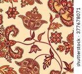 flourish tiled pattern. floral... | Shutterstock .eps vector #377678071