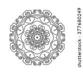 ornate mandala. gothic lace... | Shutterstock . vector #377680249