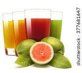 Glasses Of Assorted Fruit...