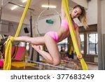 aerial clothes  aerial silks ... | Shutterstock . vector #377683249