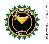 national margarita day icon.... | Shutterstock .eps vector #377687194