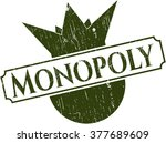 monopoly rubber grunge stamp
