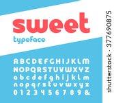 bold font. vector alphabet with ... | Shutterstock .eps vector #377690875