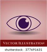 eye icon vector illustration | Shutterstock .eps vector #377691631
