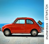 Small photo of Camogli, Liguria, Italy - September 20, 2015: Festival Fiat 500 Rally organizers the Fiat 500 Club Genova Levante Italy.The participants created a tour of the city east with Fiat 500 Nuova