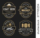 vintage frame design for labels ... | Shutterstock .eps vector #377705254