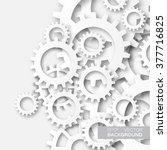 mechanism system cogwheels.... | Shutterstock .eps vector #377716825