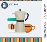 coffee  icon design    Shutterstock .eps vector #377718439