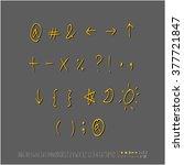 alphabet   number   handwriting ... | Shutterstock .eps vector #377721847
