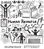 human resource management in... | Shutterstock .eps vector #377723227