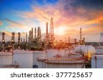 oil and gas industry   refinery ... | Shutterstock . vector #377725657