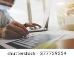 business documents on office... | Shutterstock . vector #377729254