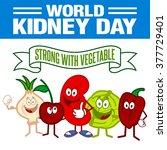 kidney health awareness template | Shutterstock .eps vector #377729401