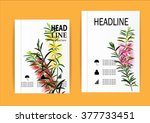 brochure flyer design layout... | Shutterstock .eps vector #377733451