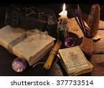 still life with magic objects ... | Shutterstock . vector #377733514