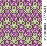 Classic japanese seamless pattern in purple-grass colors - stock vector