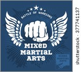 fight club mma mixed martial...   Shutterstock .eps vector #377741137