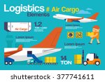 vector illustration logistic ... | Shutterstock .eps vector #377741611