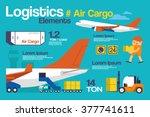 vector illustration logistic ... | Shutterstock .eps vector #377741611