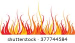 abstract image of fire border | Shutterstock .eps vector #377744584