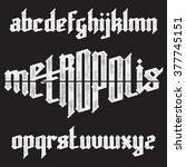 metropolis modern custom gothic ... | Shutterstock .eps vector #377745151