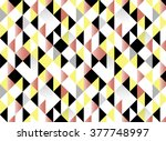 abstract geometric blue and red ... | Shutterstock .eps vector #377748997