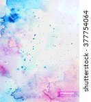 abstract watercolor art hand... | Shutterstock .eps vector #377754064