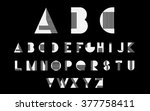 white alphabetic fonts with... | Shutterstock .eps vector #377758411