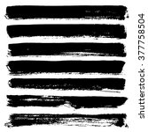collection of ink brushes ... | Shutterstock .eps vector #377758504
