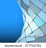 glossy tile scene vector... | Shutterstock .eps vector #377763781