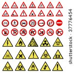 safety and work sign collection ... | Shutterstock .eps vector #37776454